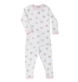 Noomie Noomie - Pink Bulldog Two Piece PJ