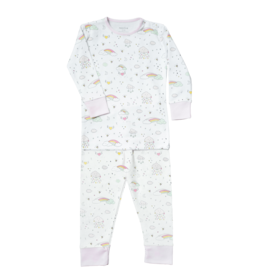 Noomie Noomie - Rainbow All Over Print Two Piece PJ