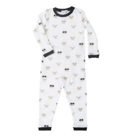 Noomie Noomie - Black Bulldog Two Piece PJ