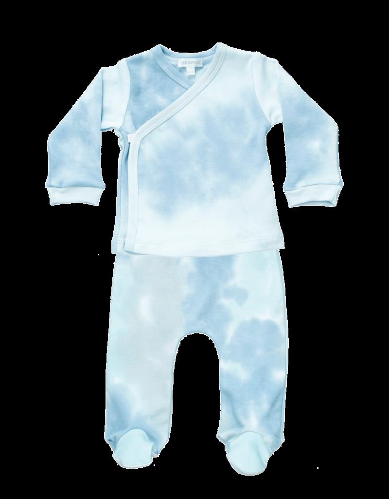 Noomie Noomie - Tie Dye Blue Kimono Set