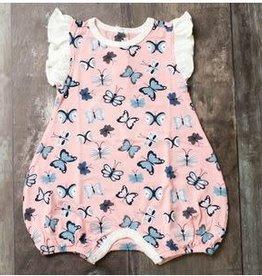 Bestaroo Bestaroo - Pink Butterflies Flutter Romper