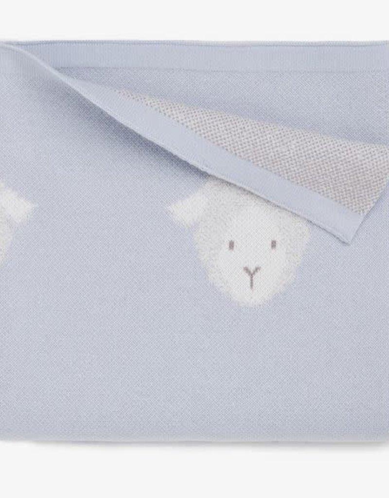 Elegant Baby Elegant Baby - Blue Lambie Cotton Knit Baby Blanket
