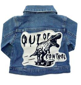Wee Monster Wee Monster - Denim Dino Print Jacket