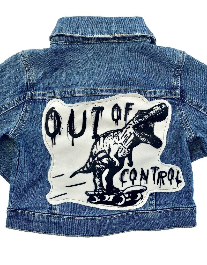 Wee Monster Wee Monster - Denim Dino Jacket