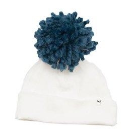 oh baby! oh baby! - Yarn Pom - Denim Blue on Cream