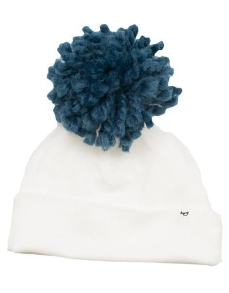 oh baby! oh baby! - Yarn Pom - Denim Blue on Cream