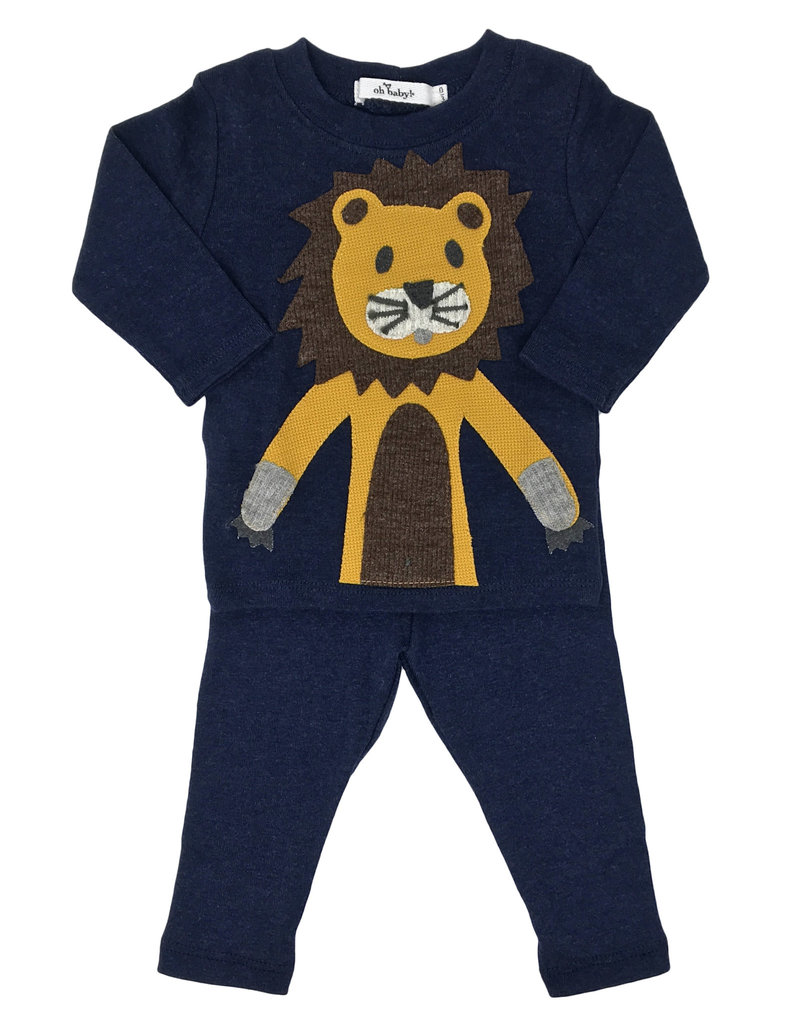 oh baby! oh baby! - Two Piece Set - Lion - Navy Heather