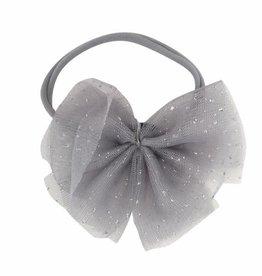 oh baby! oh baby! - Glinda Bow Headband - Gray/Silver