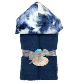 Baby Jar Baby Jar - Deluxe Towel Plush Hood - Navy Tie Dye