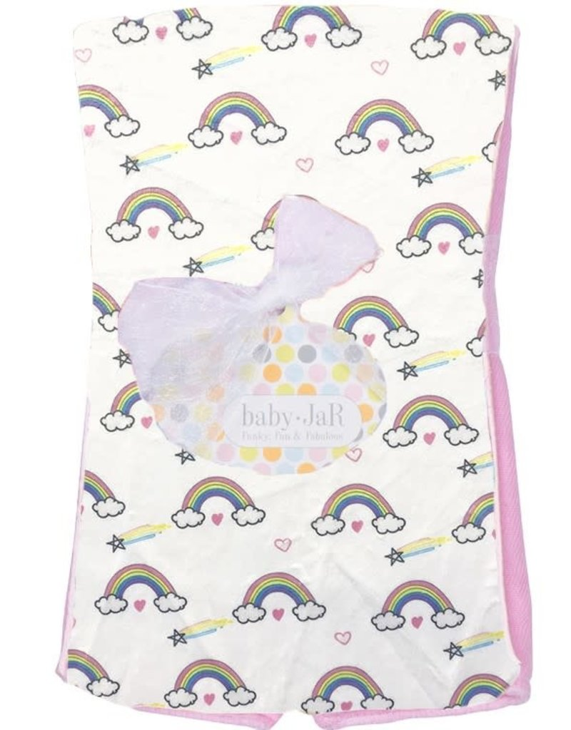 Baby Jar Baby Jar - Plush Burp Cloth - Rainbows