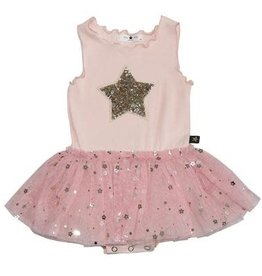 Petite Hailey Petite Hailey - Baby Star Dress Short Sleeve in Pink