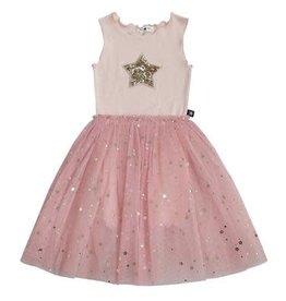 Petite Hailey Petite Hailey – Star Dress Short Sleeve in Pink