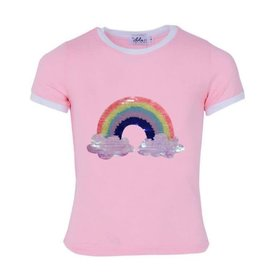 Lola and the Boys Lola and the Boys - Happy Rainbow Ringer T-Shirt