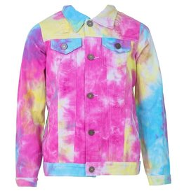 Lola and the Boys Lola and the Boys - Tie Dye Denim Jacket