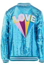 Lola and the Boys Lola and the Boys - Rainbow Love Sequin Flip Bomber