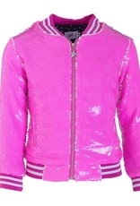 Lola and the Boys Lola and the Boys - Neon Pink Sequin Flip Bomber