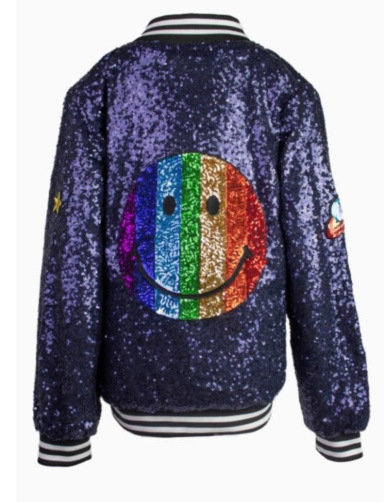 Lola and the Boys Lola and the Boys - Emoji Sequin Bomber