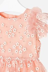 Mayoral Mayoral - Peach Flower Tulle Dress