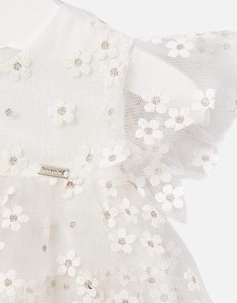 Mayoral Mayoral - Natural Flower Tulle Dress