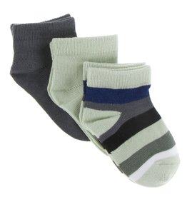 KicKee Pants KicKee Pants - Low Sock Set/Stone Stripe