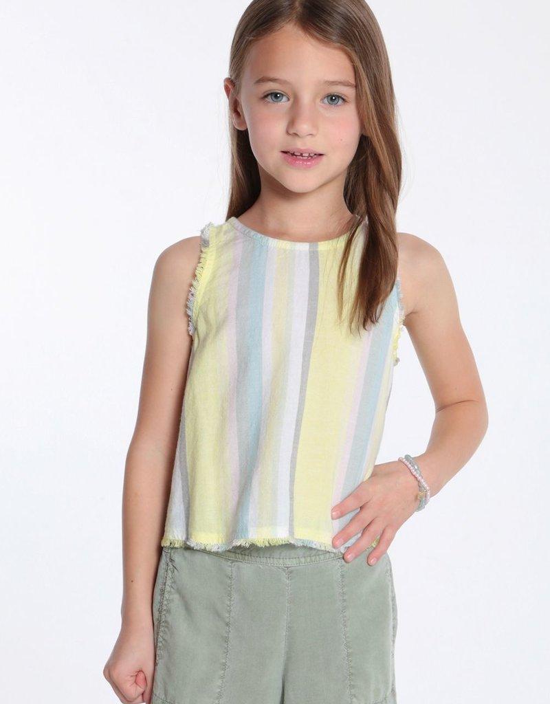 Bella Dahl Bella Dahl - Fray Sunny Lime Button Back Top
