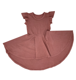 Wee Monster Wee Monster - Dusty Pink Circle Dress