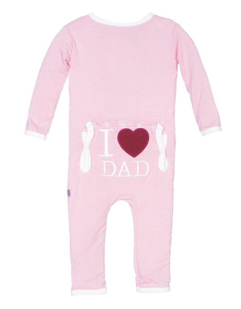 KicKee Pants KicKee Pants - I Love Dad Coverall - Lotus