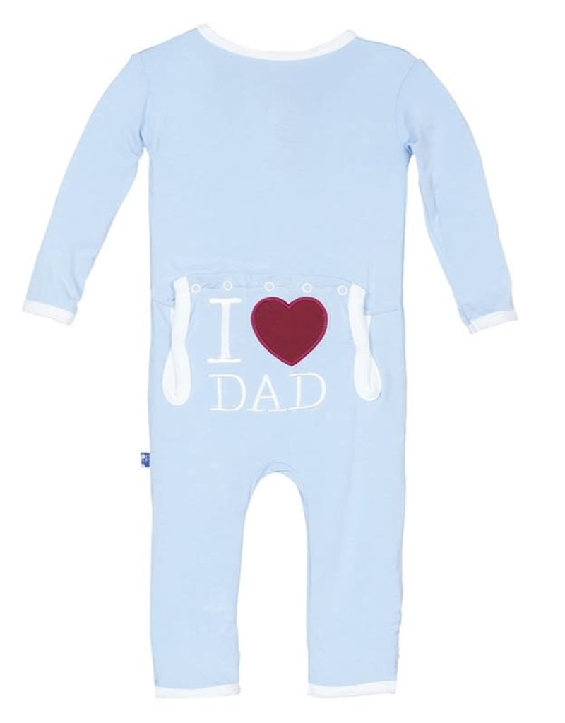KicKee Pants KicKee Pants - I Love Dad Coverall - Pond