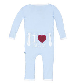 KicKee Pants KicKee Pants - I Love Mom Coverall - Pond