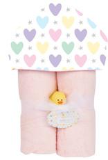 Baby Jar Baby Jar - Hooded Towel Hearts & Stars