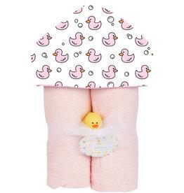 Baby Jar Baby Jar - Hooded Towel Pink Ducks