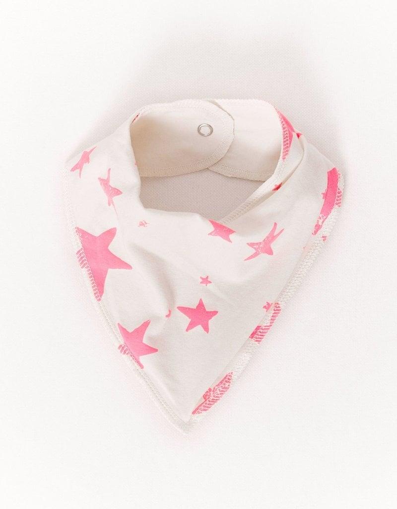 Noe & Zoe Noe & Zoe - Neon Pink Stars Drooling Scarf