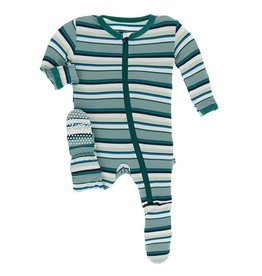KicKee Pants KicKee Pants - Stripe Zip Footie