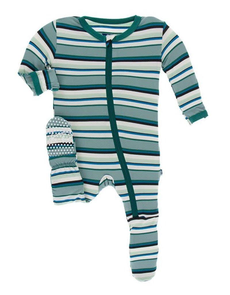 KicKee Pants KicKee Pants - Stripe Zip Footie