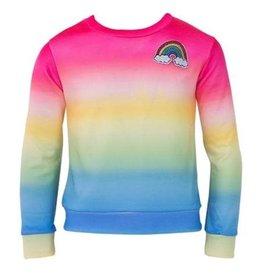 Lola and the Boys Lola and the Boys  - Rainbow Ombre Sweatshirt