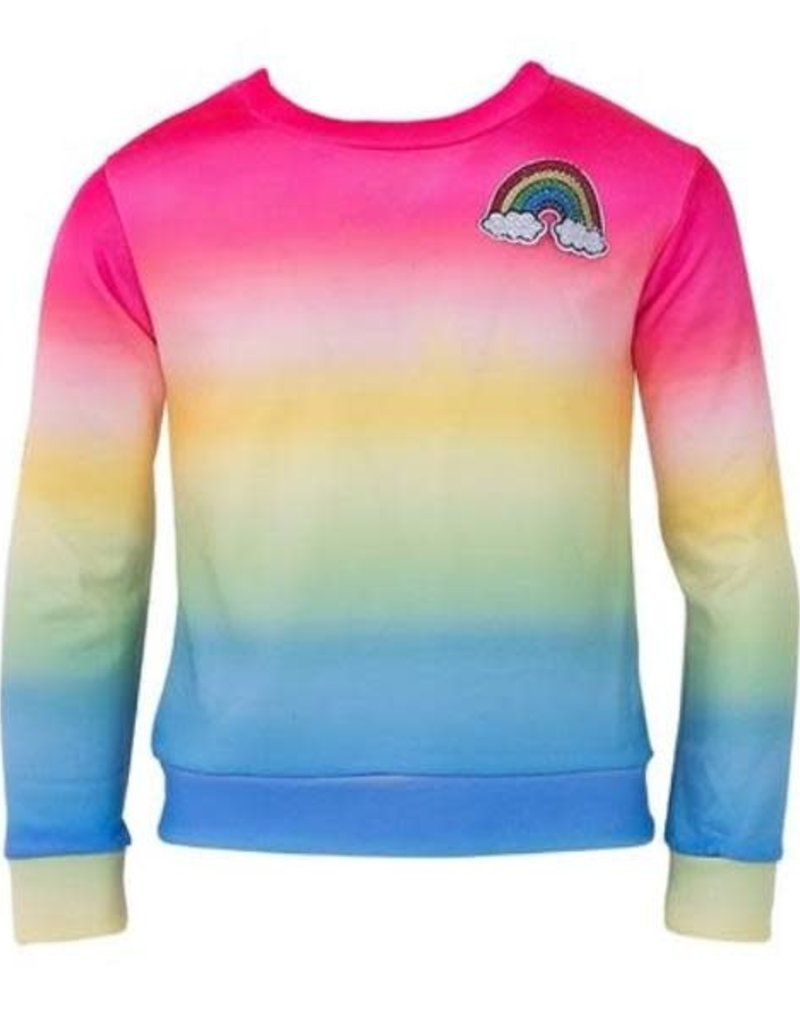 Lola and the Boys Lola and the Boys  - Rainbow Ombre Sweatshirt