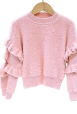Lola and the Boys Lola and the Boys - Ruffle Sleeve Crop Sweater