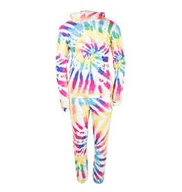 Lola and the Boys Lola and the Boys - Rainbow Tie Dye Jogger Set