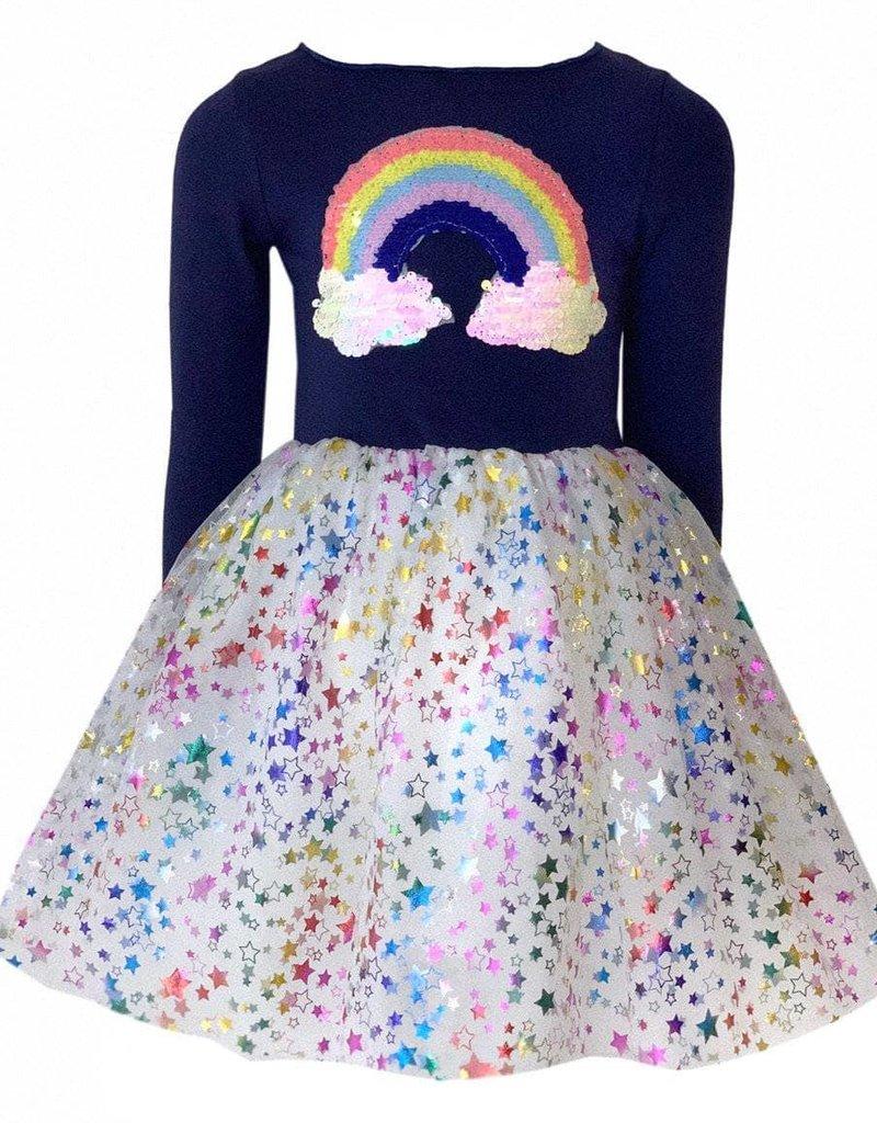Lola and the Boys Lola and the Boys - Rainbow Cloud TuTu Dress