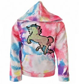 Lola and the Boys Lola and the Boys - Tie Dye Unicorn Hoodie