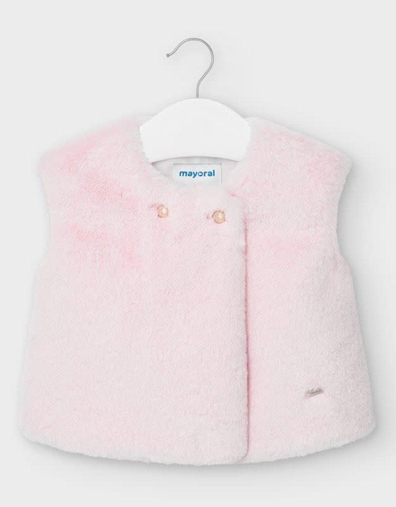Mayoral Mayoral - Rose Fur Vest