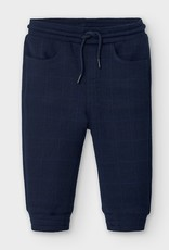 Mayoral Mayoral - Blue Plaid Jogger Pants