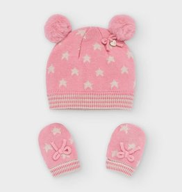 Mayoral Mayoral - Blush Hat & Mittens Set