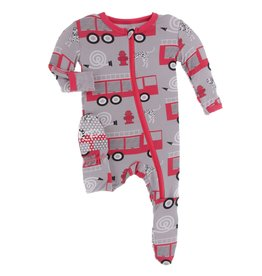 KicKee Pants KicKee Pants - Firefighter Zip Footie