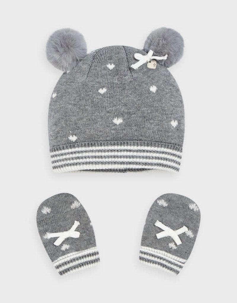 Mayoral Mayoral - Moon Hat & Mittens Set