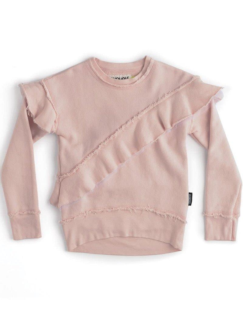 NuNuNu NuNuNu - Powder Pink Ruffle Sweatshirt