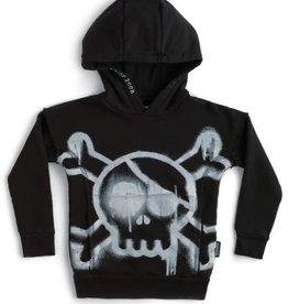 NuNuNu NuNuNu - Black Sprayed Skull Hoodie