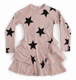 NuNuNu NuNuNu - Powder Pink Star Layered Dress