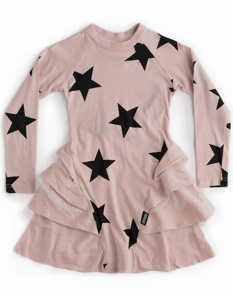 NuNuNu NuNuNu - Powder Pink Star Layered Dress