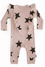 NuNuNu NuNuNu - Powder Pink Ruffled Star Playsuit